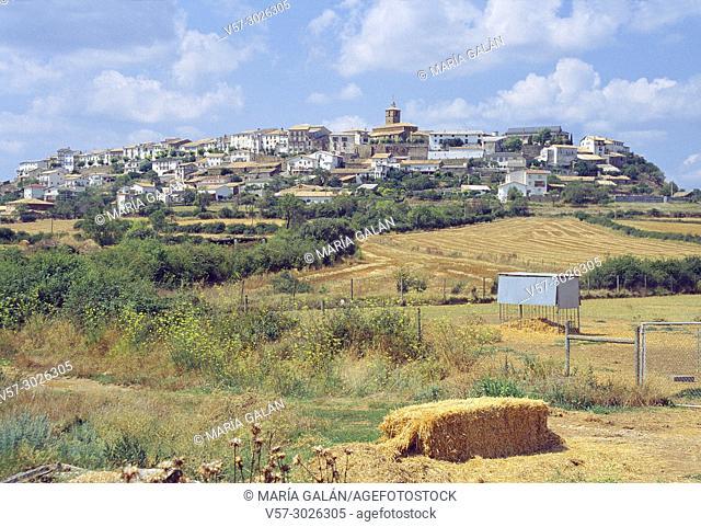 Overview. Berdun, Huesca province, Aragon, Spain