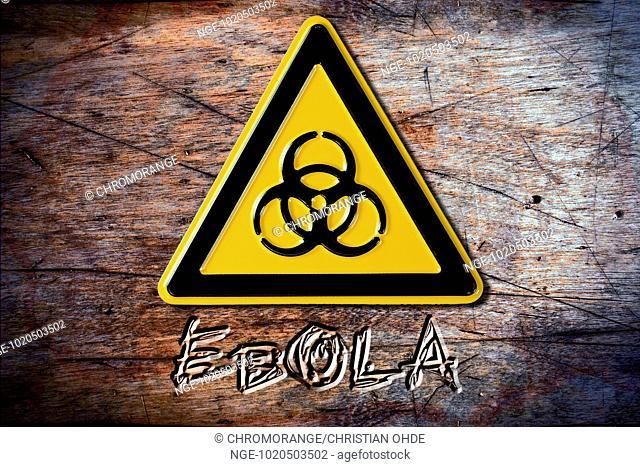 Biohazard sign, ebola fever