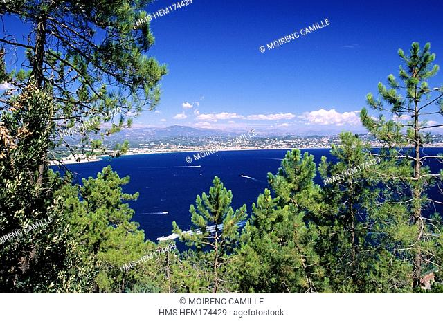 France, Alpes Maritimes, Golfe de la Napoule, with Cannes in the background