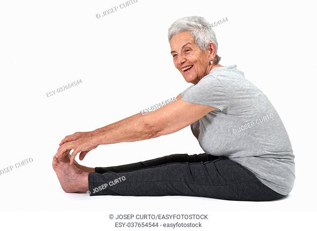 Older woman doing exercises