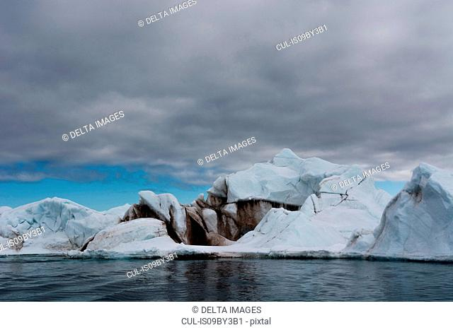 Iceberg, Vibebukta, Austfonna, Nordaustlandet, Svalbard, Norway