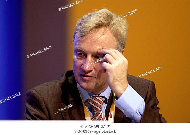 Ole von BEUST (CDU), First Mayor of the Hanseatic city Hamburg during the federal party confernce of the CDU in D³sseldorf