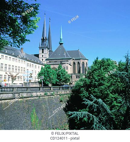 Notre Dame Cathedral. Luxembourg