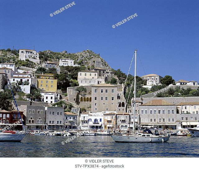 Argo, Greece, Europe, Harbour, Holiday, Hydra, Islands, Landmark, Saronic, Tourism, Town, Travel, Vacation, View, Ydra
