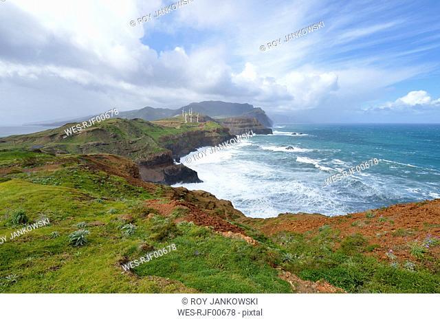 Portugal, Madeira, view from the eastern peninsula Ponta de Sao Lourenco on Madeira