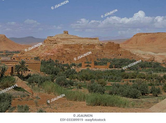Ait Benhaddou - fortified city on the route between the Sahara Desert and Marrakech in Morocco Africa