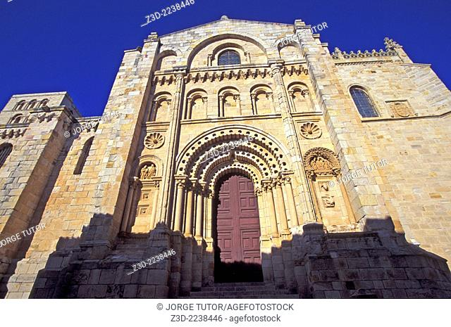 Puerta del Obispo Bishop's Door is the highlight of the facade of Zamora Gothic cathedral
