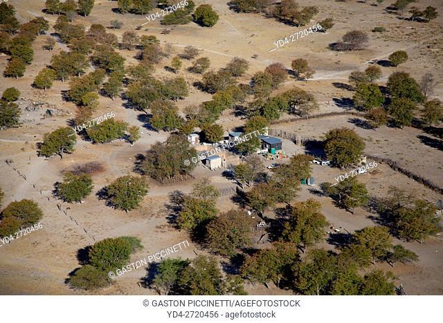 Village close to the Okavango delta, Botswana