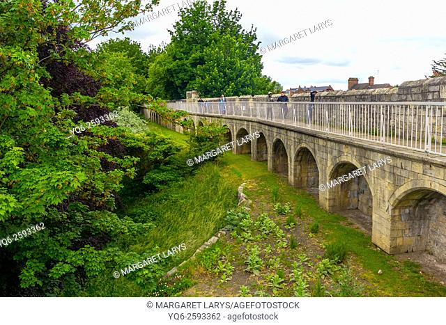 York city walls, England, United Kingdom
