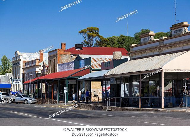 Australia, South Australia, Burra, former copper mining town, town view
