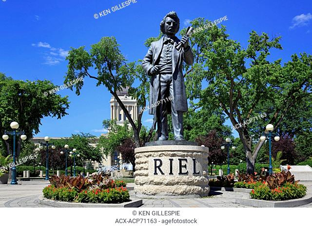 Louis Riel statue at Manitoba Legislative Building grounds, Winnipeg, Manitoba, Canada