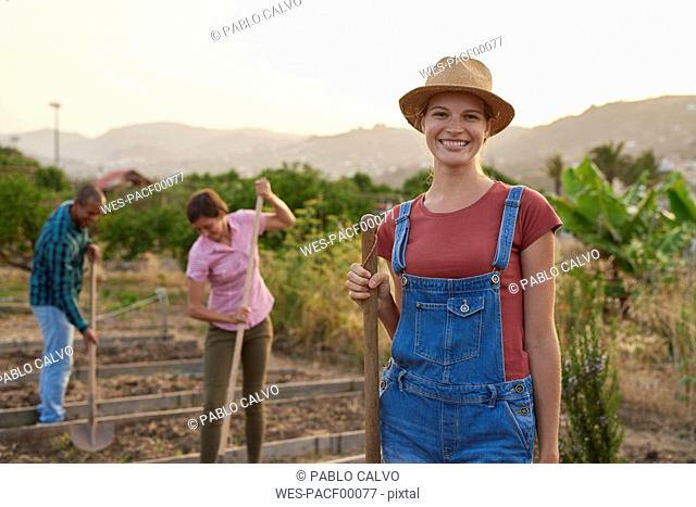 Portrait of smiling young farmer