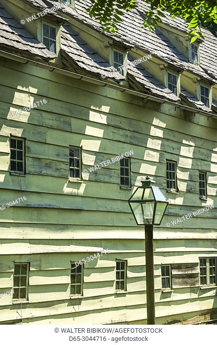 USA, Pennsylvania, Pennsylvania Dutch Country, Ephrata, Ephrata Cloister, monastery founded by German Lutheran Pietist Conrad Beissel in 1732, saron