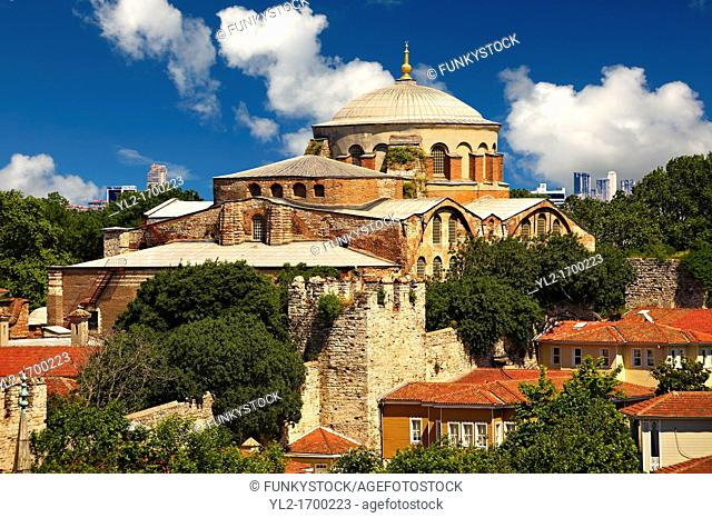 Hagia Irene or Hagia Eirene a , 'Holy Peace', Aya Irini, the first Christian Roman Basilica built in Constantinople by Emperor Constantine  Rebuilt by Emperor...