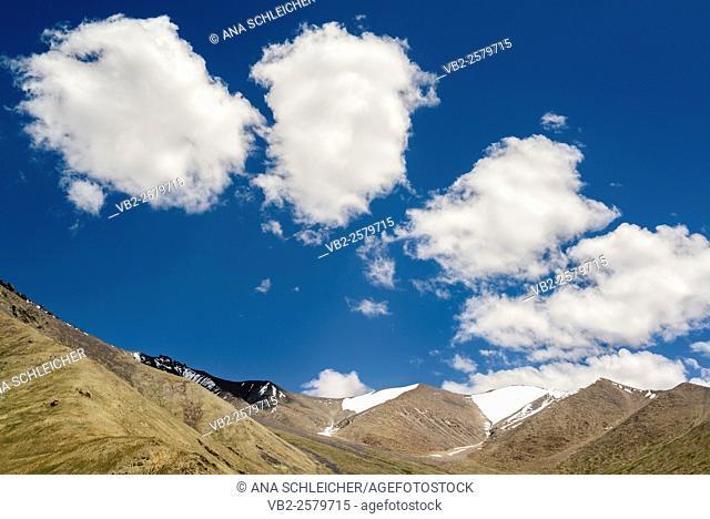 Clouds decorate the sky in Khardung La