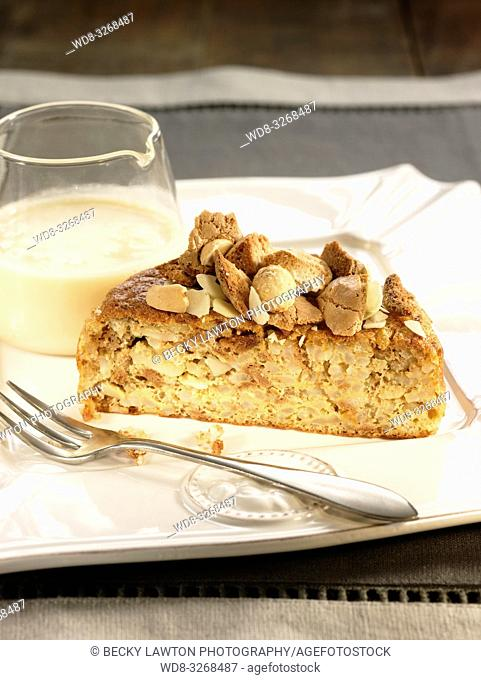 pastel de arroz y almendras