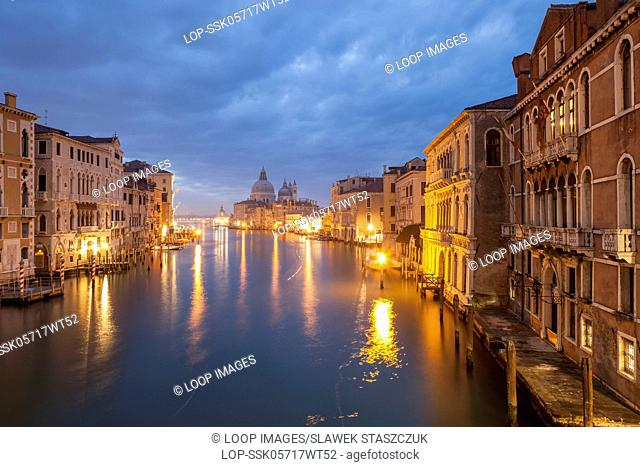 Dawn on Grand Canal in Venice