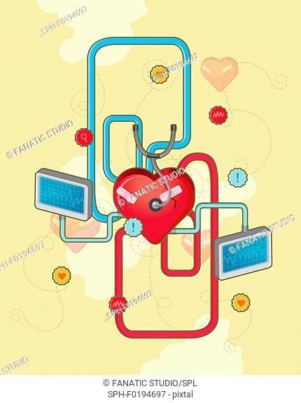 Cardiology, illustration