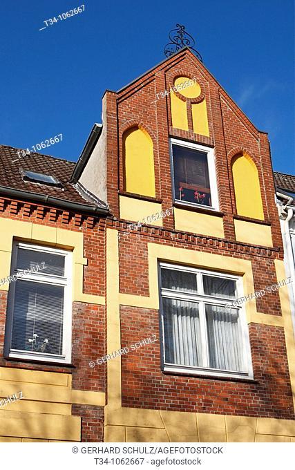 Historische Giebelhäuser in Friedrichstadt, Schleswig-Holstein, Deutschland , Historical Houses of Friedrichstadt, Schleswig-Holstein, Germany