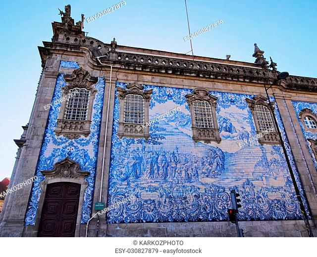 Tiled Wall of Carmo Church in Porto, Portugal