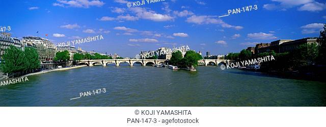 View of Ile de la Cité from Pont des Arts, Paris, France