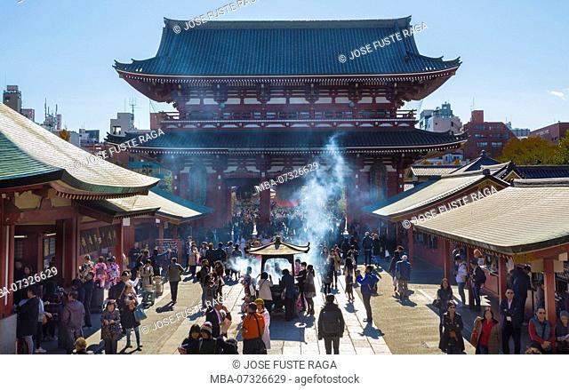 Japan, Tokyo City, Asakusa District, Sensoji Temple, Nakamise Street