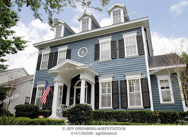 Florida, Orlando, Kissimmee, Celebration, planned community, Colonial-style house, home