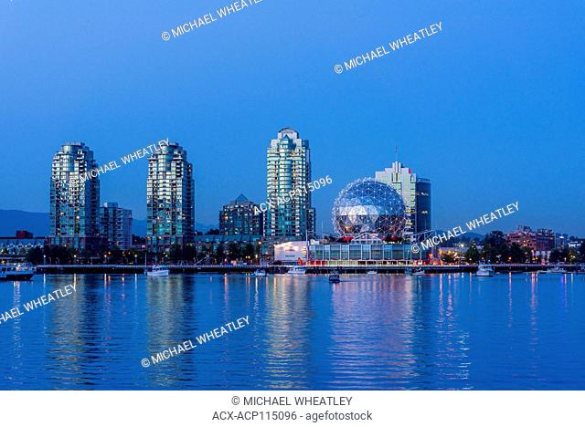 False Creek and Science World, Vancouver, British Columbia, Canada