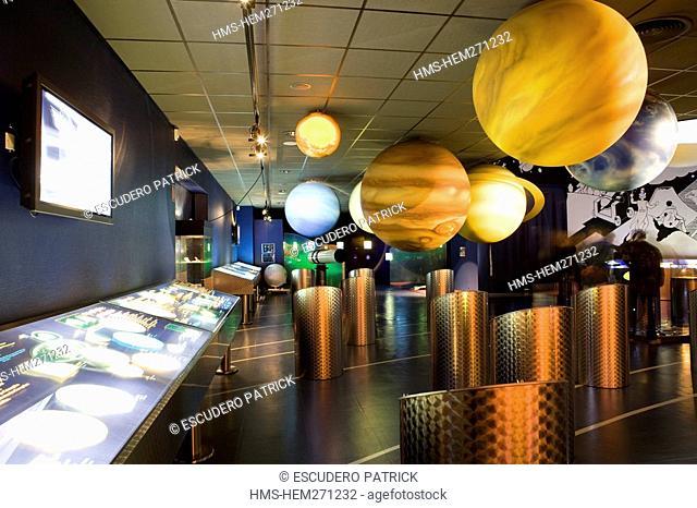 France, Manche, Tonneville, Ludiver planetarium of La Hague