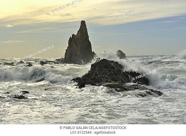 Arrecife de las Sirenas. Cabo de Gata. Almeria province, Andalusia, Spain