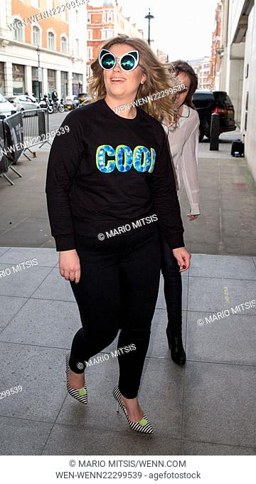 Ella Henderson arriving at the BBC Radio 1 studios to perform on Fearne Cotton's Live Lounge Featuring: Ella Henderson Where: London