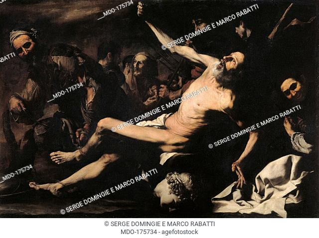 Martyrdom of St Bartholomew, by Jusepe de Ribera known as Spagnoletto, 1620 - 1624 about, 17th Century, oil on canvas, cm 145 x 216