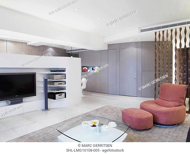 Interior view of contemporary living room