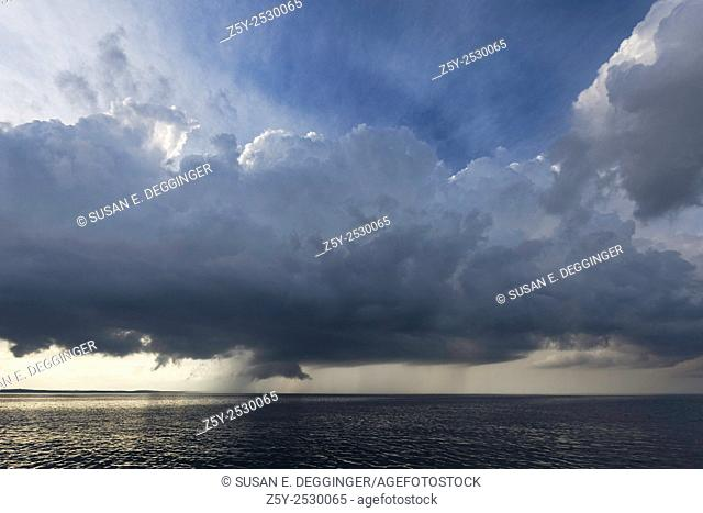 Rainstorm over the Atlantic Ocean, Massachusetts