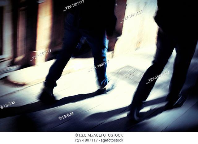 People walking on Valencia City