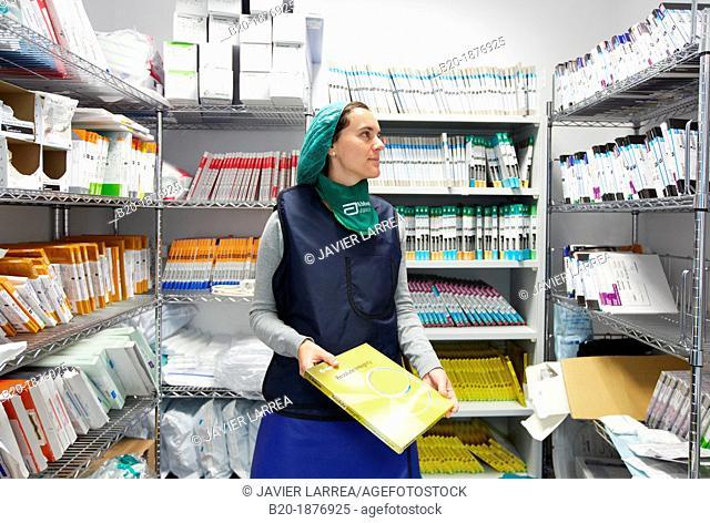 Angioplasty, Stenting in coronary arteries, Hemodynamic, Operating room, Surgery, Hospital Donostia, San Sebastian, Gipuzkoa, Basque Country, Spain