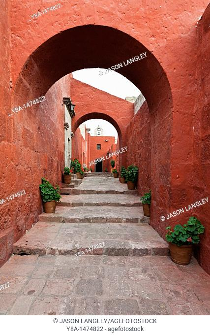 Calle Sevilla at Santa Catalina Monastery, Arequipa, Peru