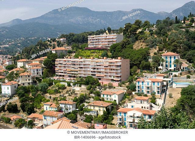 View of Menton, Cote d'Azur, Provence, France, Europe