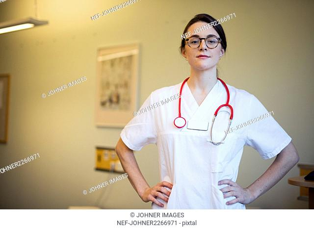 Portrait of female doctor