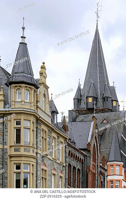 Bernkastel-Kues - town in Rhineland-Palatinate region of Germany. St Michael tower