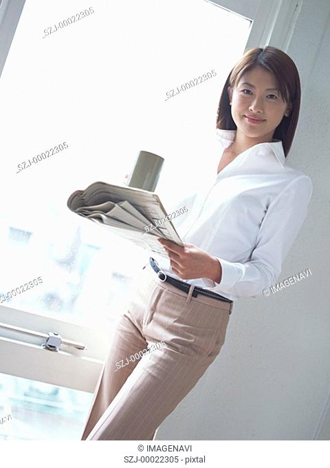 Business woman with smile