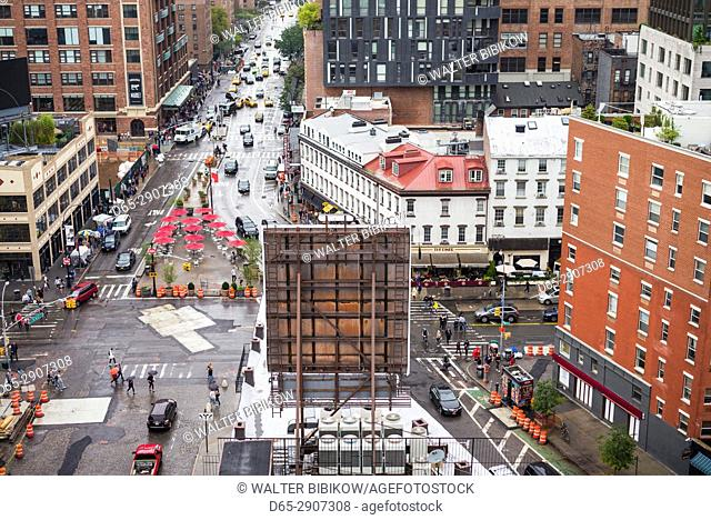 USA, New York, New York City, Lower Manhattan, elevated view of Greenwich Village