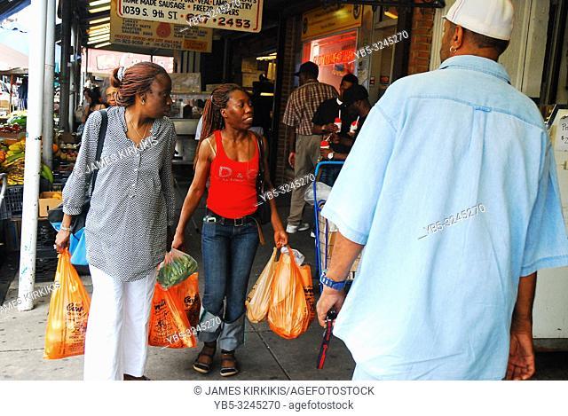 Shoppers seek the freshest foods at the Italian Market in Philadelphia
