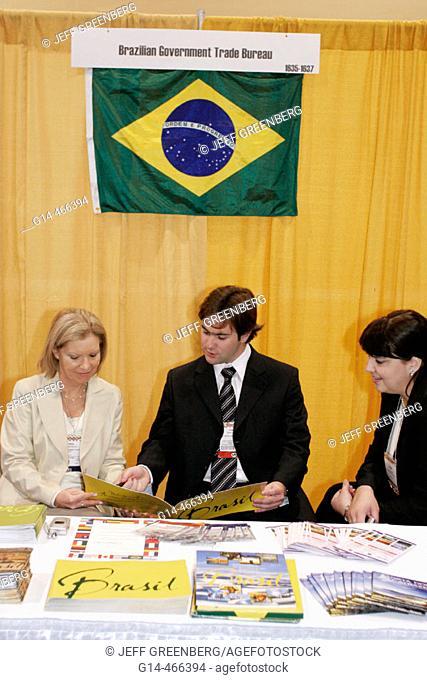 Convention Center, Americas Food and Beverage Show, Brazilian Government Trade Bureau. Miami Beach. Florida. USA
