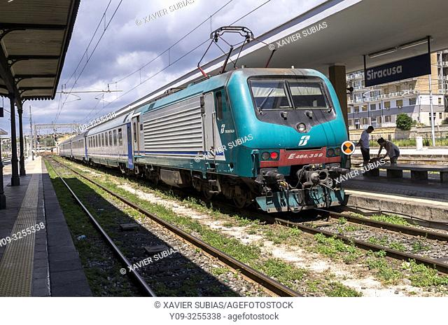 Train, Railway Station, Syracuse, Sicily, Italy