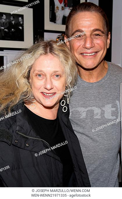 Celebrities backstage at 'Honeymoon In Vegas' Featuring: Carol Kane,Tony Danza Where: New York, New York, United States When: 30 Nov 2014 Credit: Joseph...