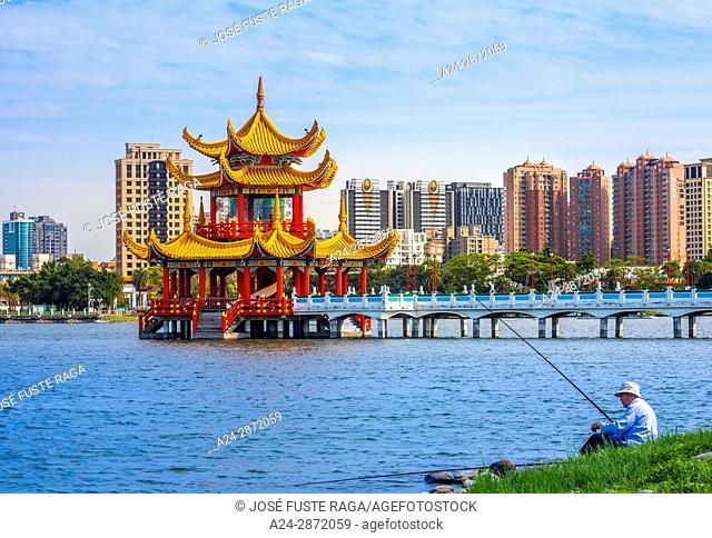 Taiwan, Kaohsiung City, Tsoying District, Lotus Pond, Pavillion