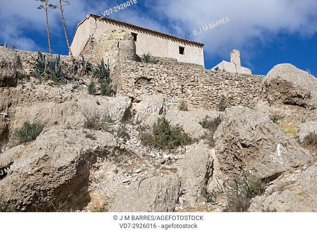 Marchalico Viñicas, abandoned village in gypsum karst of Sorbas. Almeria province, Andalucia, Spain