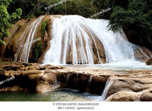 Waterfalls of Agua Azul in Palenque, Chiapas, Mexico, Central America