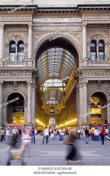 europe, italy, lombardia, milan, galleria vittorio emanuele II